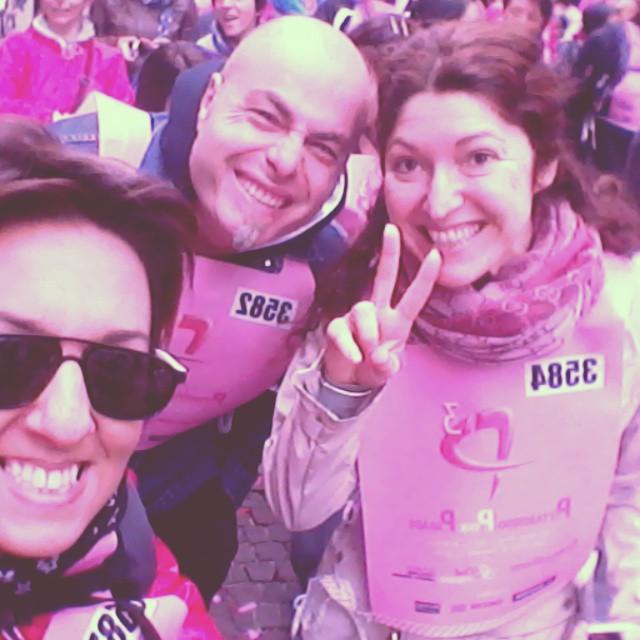 Si corre e si lotta assieme contro il cancro.. giornata in rosa a Milano..